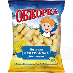 Gusanitos de maiz leche Obzhorka 80g