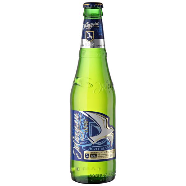 Cerveza, pasteurizada Zhiguli barnoe  alc 4,9 vol. 0,5 L - Rusia