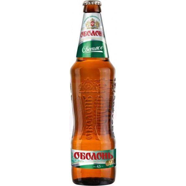 Cerveza rubia Obolon  pasteurizada 4,5 alc. 0,5 L - Ucrania