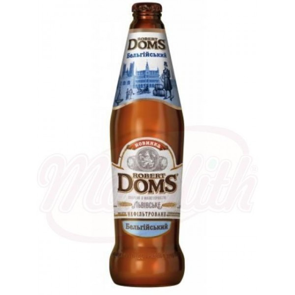 Cerveza clara Robert Doms Belga 4,3  0,5 L - Ucrania