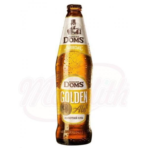 Cerveza RobertDOMS Golden ALE  5,2 vol.     0,5 L - Ucrania