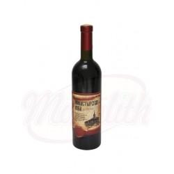 Вино Монастырская изба красное , полусладкое, 12,5% алк 750 ml