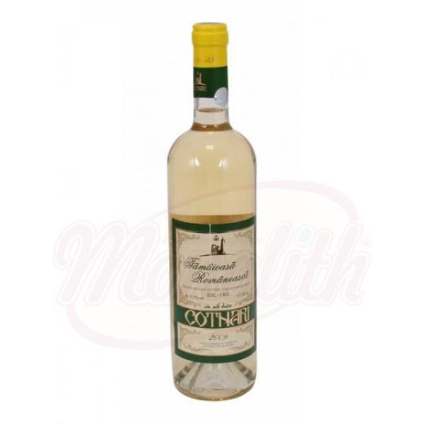 Bино Cotnari Tamaioasa  белое сладкое  11,5 алк 750 ml - Румыния