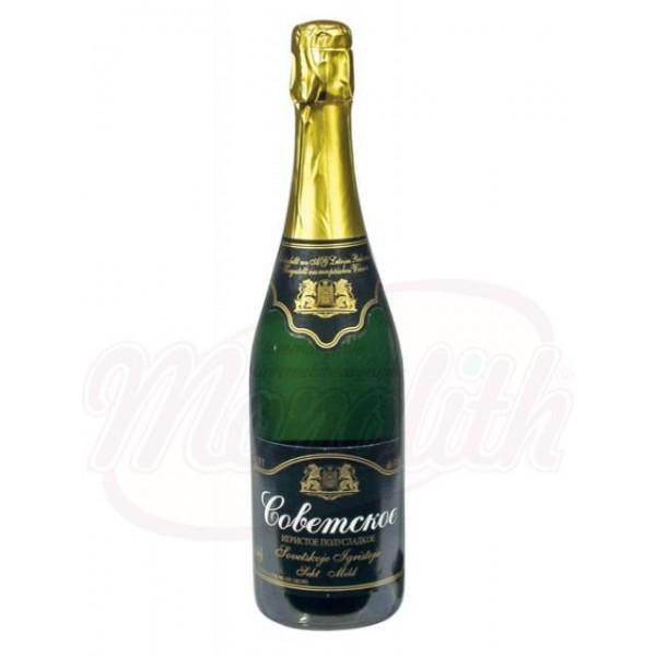 """Шампанское """"Советское"""" полусладкое 11,5 алк.0,75 L - Латвия"""