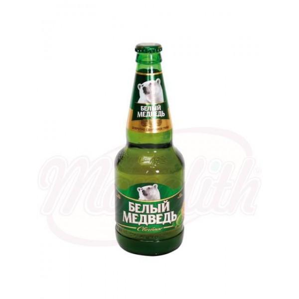 Cerveza clara Beliy Medved - Oso Blanco 0.5L - Rusia