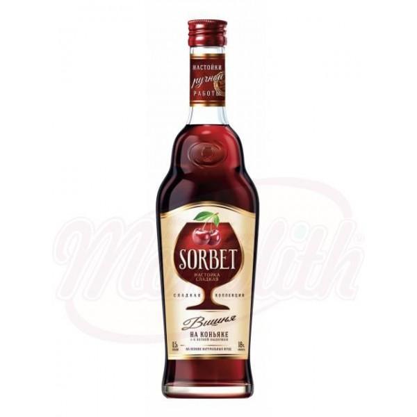 Licor  Sorbet  cereza  18 500 ml - Rusia