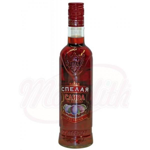 Aguardiente dulce Ciruela en coñac  20 vol.  0.5L - Otras Bebidas Alcohólicas