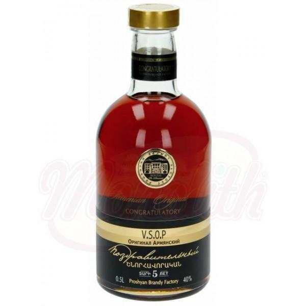 Brandy armenio CONGRATULATORY 5 Jahre 40 alc. 0,5 L - Armenia