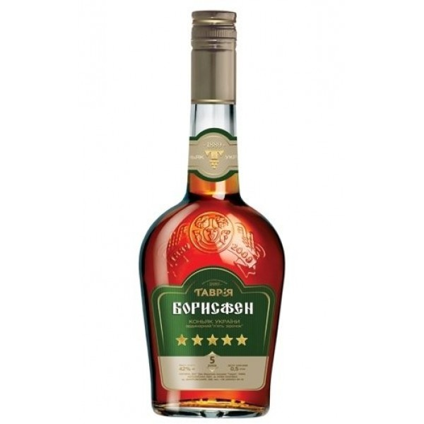 Brandy Tavria 5* 42    0,25 L - Ucrania
