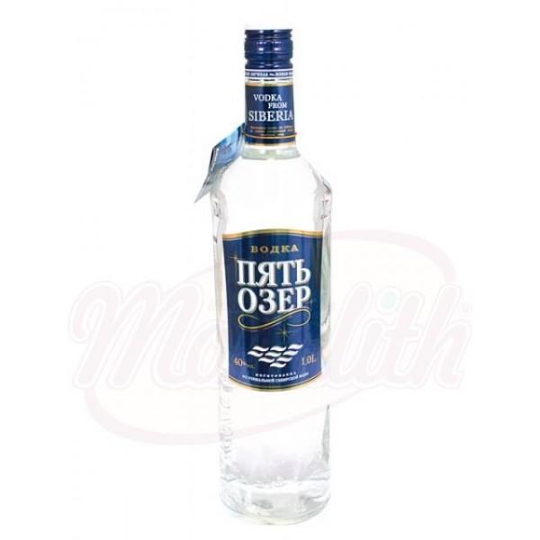 "Vodka ""Pjat Ozer - Five Lakes"" 40 vol. - Rusia"