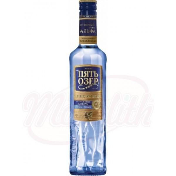 Водка Пять Озёр Премиум 40 0,5 L - Россия