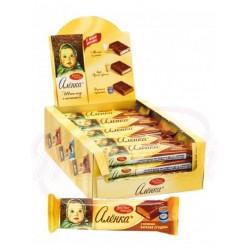 Шоколадный батончик Алёнка с начинкой Варёная сгущёнка 48 g