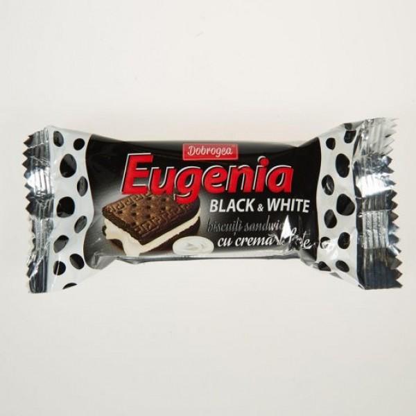 Galletas Dobrogea Eugenia de doble capa con crema de leche Black & White  36 g - Rumanía
