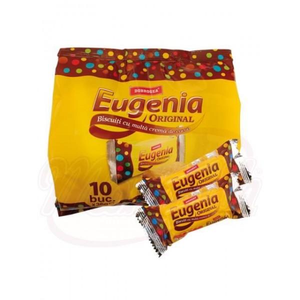Galletas Dobrogea Eugenia de bizcocho con la crema de chocolate 360 g - Rumanía