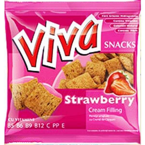 Snack Viva con crema de fresa  100 g - Rumanía
