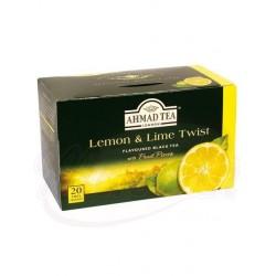 Чай черный с ароматом лимона и лайма Ахмад 20пx2г
