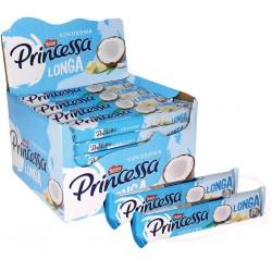 Barquillos de coco Princessa con chocolate blanco 44g