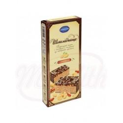 Tarta de chocolate Kolomenskoe con barquillos  Schokoladniza con relleno de crema sabor a cacahuetes en glace de cacao 270 g