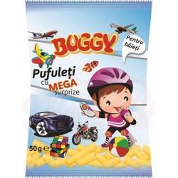 Кукурузные палочки соленые  PUFULETI BUGGY  с сюрпризом для мальчика  50 g