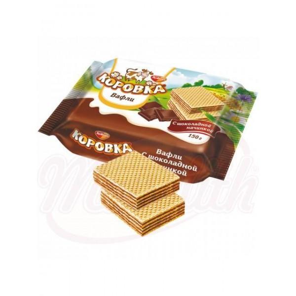 Barquillos Rot-Front  Korovka  con relleno de crema de cacao 150 g - Rusia