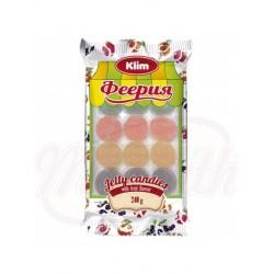 Mezcla de bombón de gelatina Feeria con sabor a frutas (fresa, manzana, grosella negra, albaricoque)  240 g