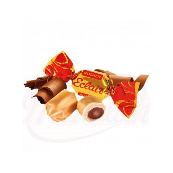 Caramelo con relleno Eclair con sabor a cacao. Relleno 18  1 kg - Ucrania