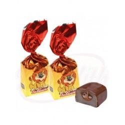 """Bombones con gelatina """"Lvyonok"""" con relleno de caramelo, glaseado en chocolate"""