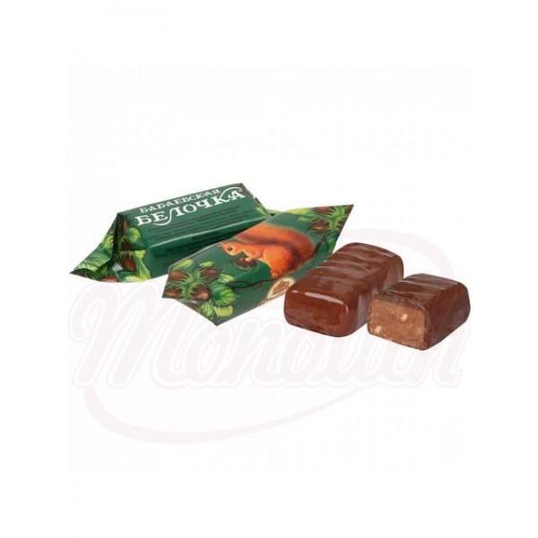 Bombon de chocolate Babaevskaja belochka 100g - Bielorrusia