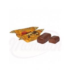 Chocolate Kara-Kum con almendras y migas de barquillo en esmalte de cacao 100g
