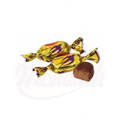 Bombones de chocolate Lastochka con leche condensada glaseados en cacao 100 g
