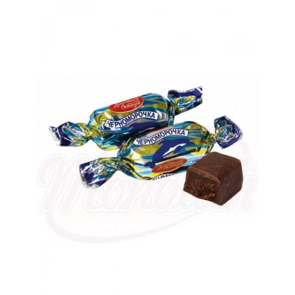 """Bombones de fondant """"Chernomorochka"""" en glace de cacao 100 g - Rusia"""