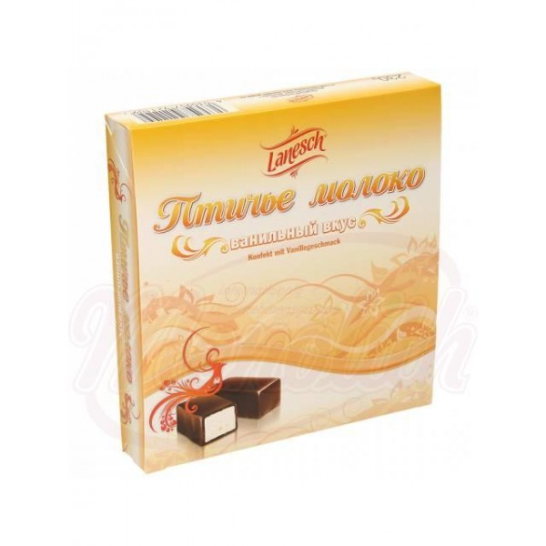 "Bombones ""Ptichye moloko"" de souffle sabor vainilla glaseados en chocolate 230 g - Polonia"