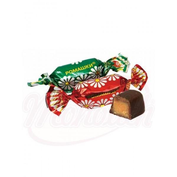 """Bombones """"Romaschki"""" sabor a ron glaseados en cacao 100 g - Rusia"""