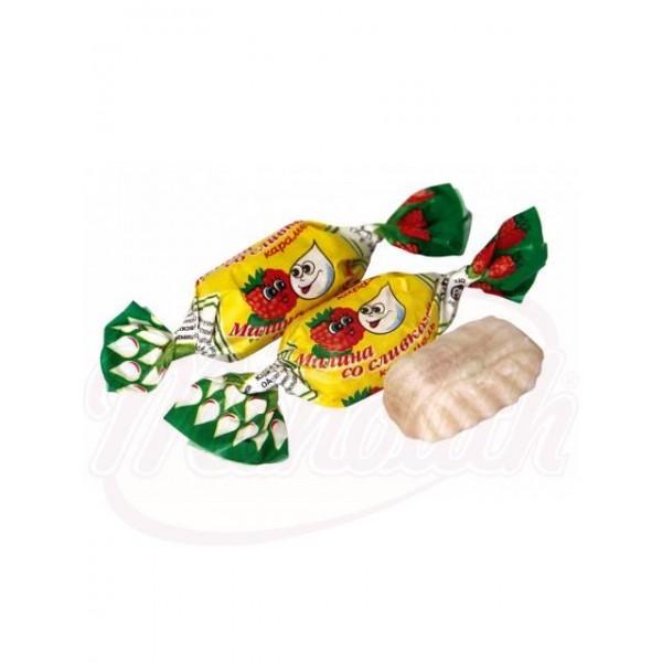 Карамель  с Малино-сливочным вкусом 100 g - Россия