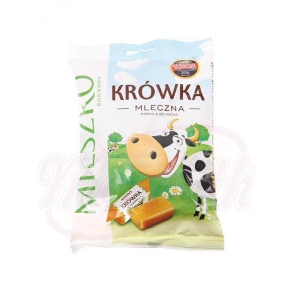Caramelos blandos con sabor a leche Krowka mleczna 215 g - Polonia