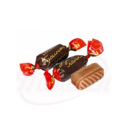 Caramelos Gusinnie Lapki con relleno de cacao-almendra 100g