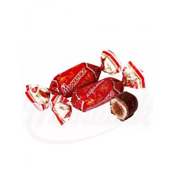 Caramelos Moskvichka con 22 de relleno sabor chocolate glaseados en cacao 19    100 g - Rusia