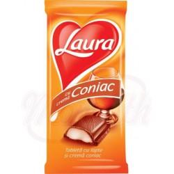 """Chocolate con leche relleno de crema de coñac """"Laura"""" 100 g"""