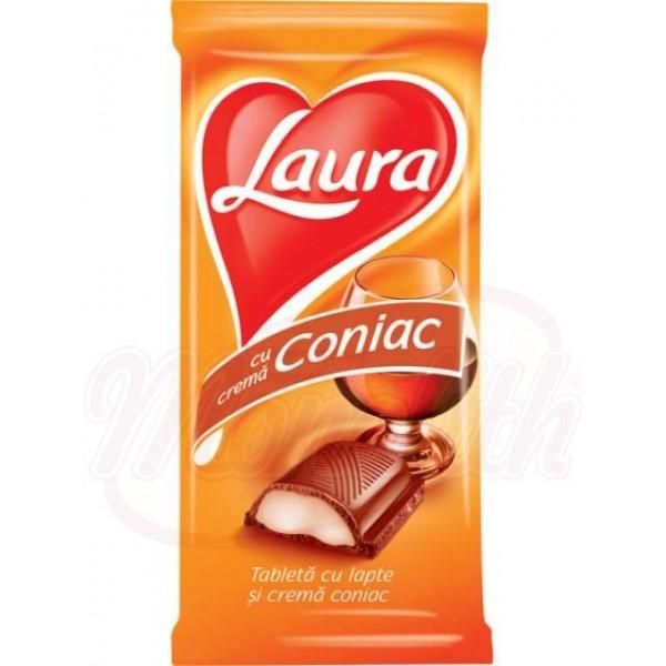 """Chocolate con leche relleno de crema de coñac """"Laura"""" 100 g - Rumanía"""