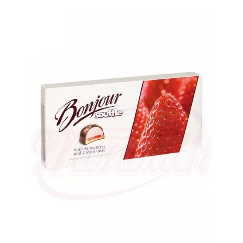 десерт бонжур клубника со сливками 232 G