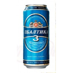 Пиво Балтика 3, алк. 4,8%,  0,9 L