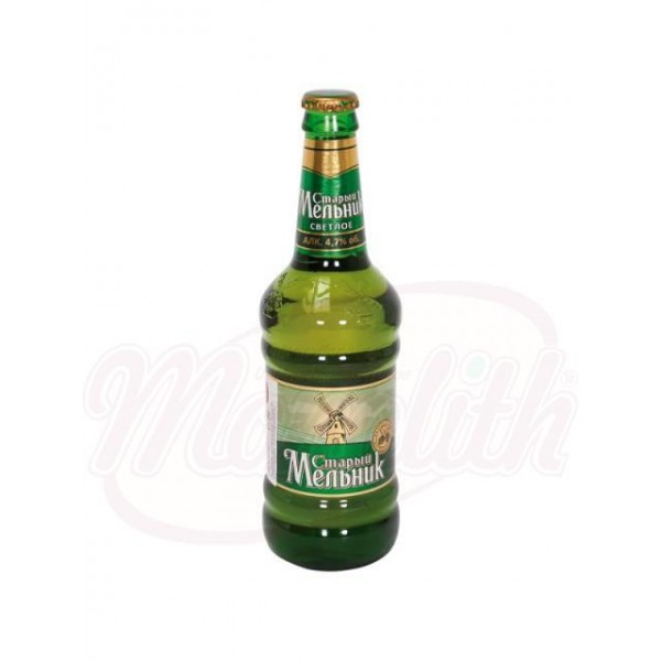 """Пиво """"Старый мельник"""" cветлое 0,5 L - Россия"""