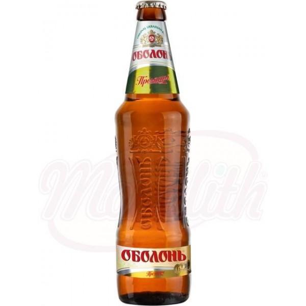 Cerveza rubia  Obolon Premium pasteurizada 5,0 alc.  0,5 L - Ucrania