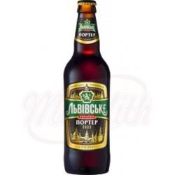 Cerveza oscura pasteurizada Lvivske Porter  Alc. 8% 0,5 L