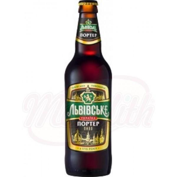 Cerveza oscura pasteurizada Lvivske Porter  Alc. 8 0,5 L - Ucrania