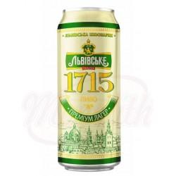 Cerveza clara pasteurizada Lvivske 1715 Alc. 4,7 % 0,5 L