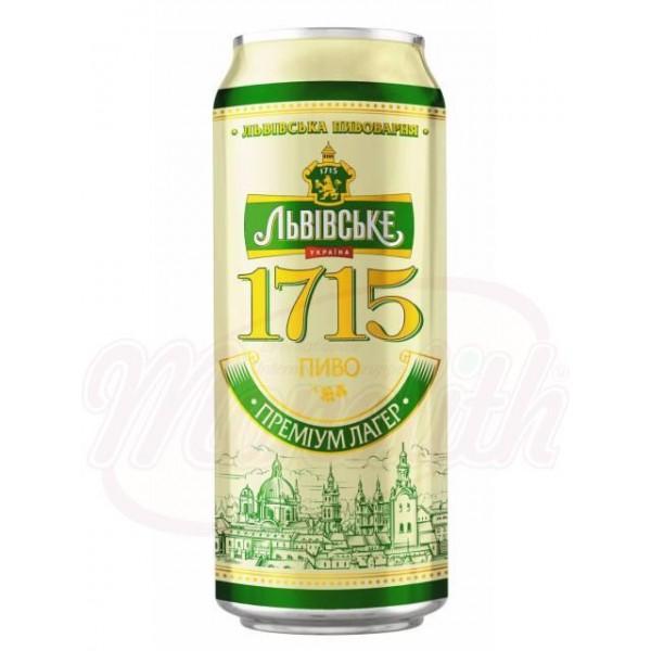 Cerveza clara pasteurizada Lvivske 1715 Alc. 4,7  0,5 L - Ucrania