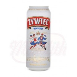 Cerveza clara Zywiec  5,6% 0,5l lata