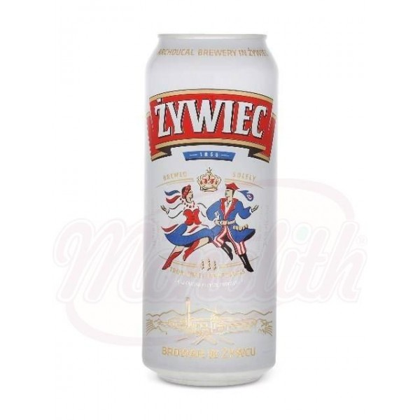 Cerveza clara Zywiec  5,6 0,5l lata - Polonia