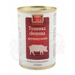 Тушёнка свиная Марка Nr.1 крупнокусковая  400 g